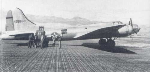 B-17 on the steel-mat runway