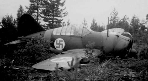 Sad end of a Brewster Buffalo fighter