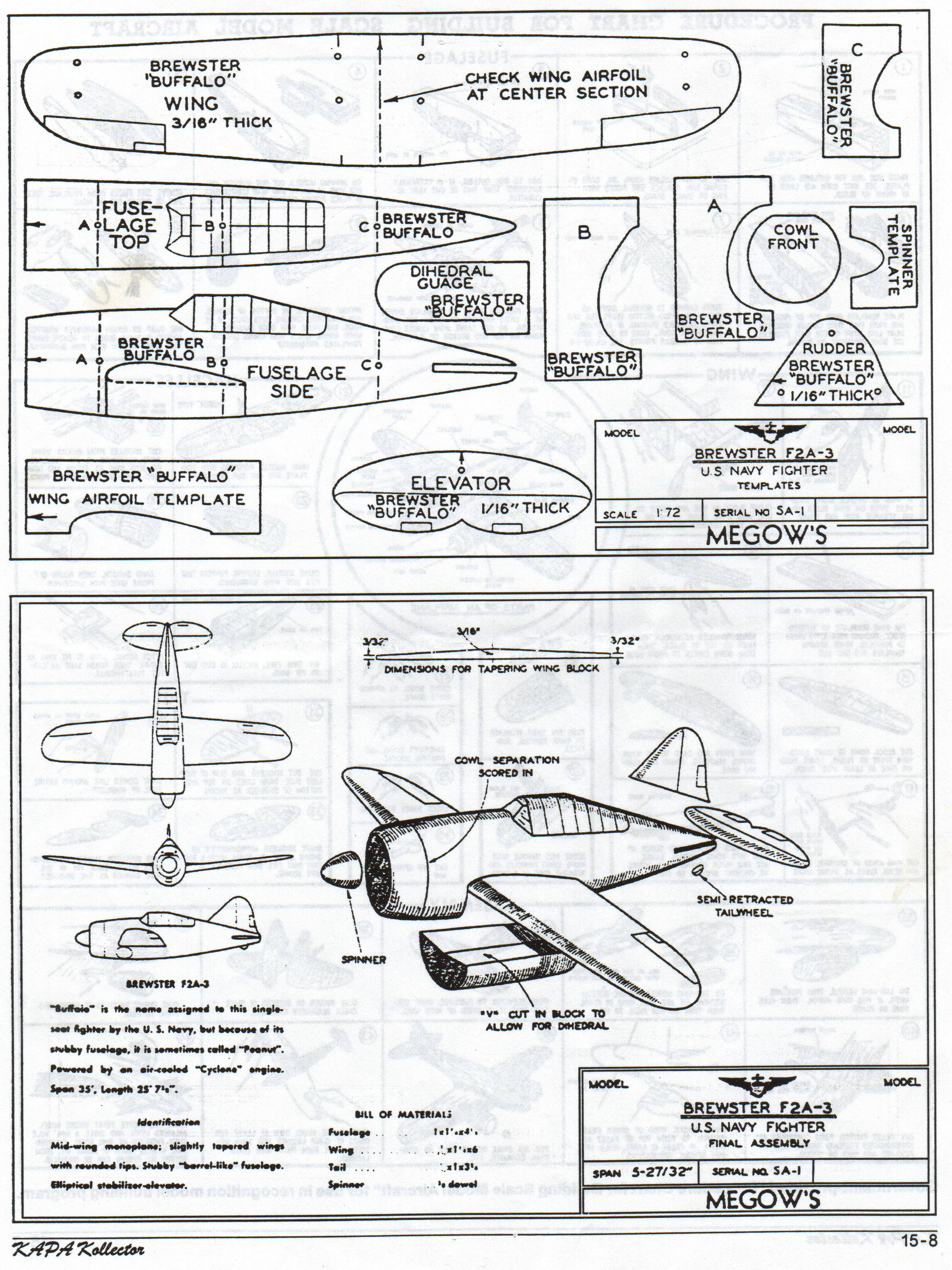 balsa wood airplanes plans