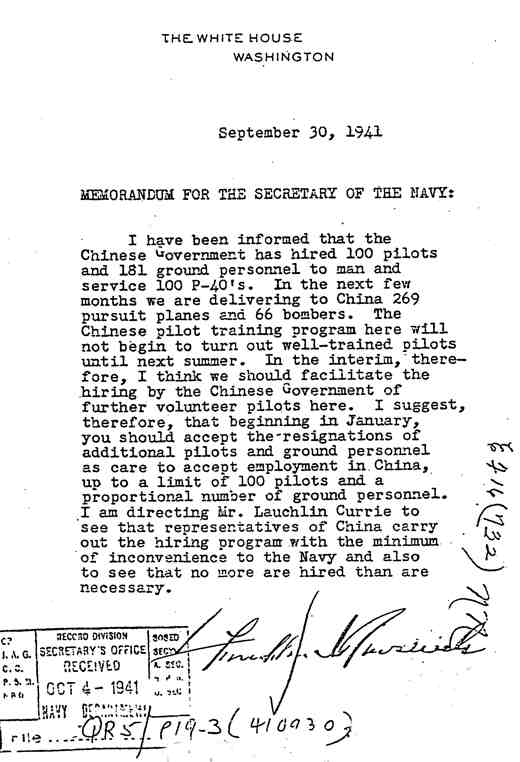 FDR's directive to the