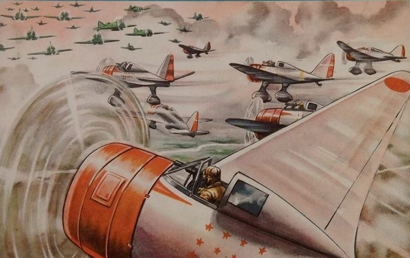 Ki-27s against I-16s