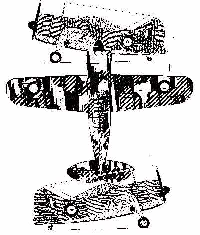 Three-view of RAAF